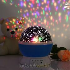Romantic Night Light Children Sky Star Moon Projector Baby Lamp Kid Bedroom