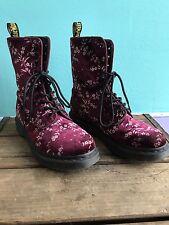 Women's Dr. Martens Velvet Floral Boots Size 7