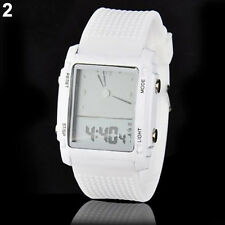 Fashion Unisex Womens Mens Digital Led Chronograph Quartz Sport Wrist Watch