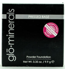 Glo Minerals Pressed Base Powder Foundation -Golden Medium- 0.35oz/9.9g NIB AUTH