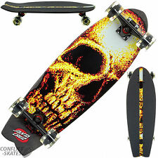 "SANTA Cruz ""NOTTE Creeper Squalo"" Skateboard completo GLOW IN DARK LIGHT UP RUOTA"