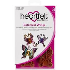 Heartfelt Creations Cling Rubber Stamp Set ~ Botanical Wings, HCPC3652 ~ NIP