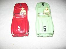 2 VINTAGE MARX MERCEDES BENZ SLOT CARS  IN WORKING CONDITION HEAD LIGHTS WORK