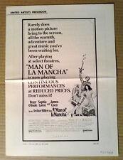 Pressbook~ MAN OF LA MANCHA ~1972 ~Peter O'Toole ~Sophia Loren ~James Coco