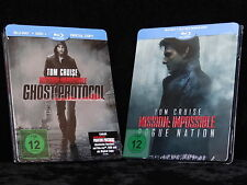 Mission Impossible: Ghost/Phantom Protocol & Rogue Nation Steelbook [Blu-ray]