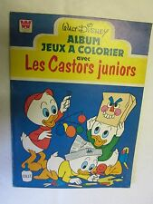 Walt Disney Album Jeux à colorier avec les Castors Juniors /Withman 1978