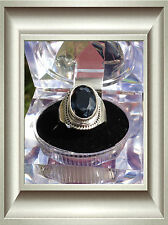 Lady's 925 Sterling Silver 5Ct IOLITE  Ring S:7.75