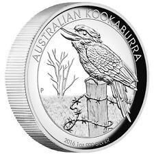 2016 Australian Kookaburra 1oz Dollar $1 Silver Proof High Relief Coin Australia