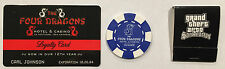 ROCKSTAR GAMES GRAND THEFT AUTO SAN ANDREAS CASINO CARD AND BLIND DRAGON CHIP