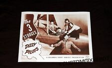 The Three 3 Stooges Dizzy Pilots movie Theater poster Lobby card art print