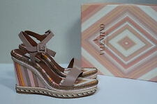 8.5 / 38.5 Valentino Native Couture Espadrille Platform Wedge Heel Sandal Shoes