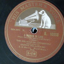 78rpm MELACHRINO ORCH a woman in love / autumn concerto