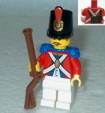 PIRATES Lego Imperial Red Coat Soldier w/Shako & Musket NEW Authentic Lego #3