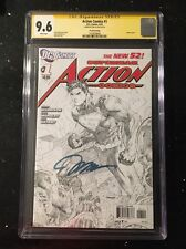 Superman Action Comics 1 CGC SS 9.6 Jim Lee Sketch Variant Signed 4th Print HTF