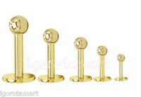 Ladies Men 316L Gold Surgical Steel Screw Ball Labret Lip Lips Stud Body Jewelry