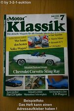 Motor Klassik 7/91 Maybach Corvette Sting Ray Cabrio