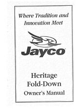Jayco Fold-Down Pop-Up Tent Trailer Owners Manual- 1999 Heritage