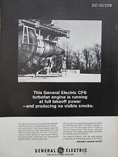 5/1969 PUB GENERAL ELECTRIC CF6 ENGINE MCDONNELL DOUGLAS DC-10 AIRLINER AD
