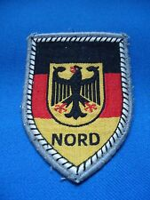 GERMANY GERMAN MILITARY BUNDESWEHR NORD FLAG PATCH 82mm
