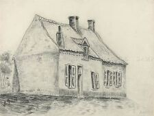 VINCENT VAN GOGH DUTCH MAGROT HOUSE CUESMES OLD ART PAINTING POSTER BB6482A