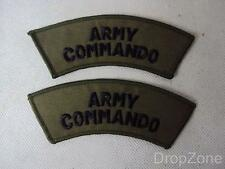 NEW Pair British Navy Commando Shoulder Titles / Badges / Patches