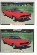 1970 Plymouth Cuda 426 Hemi Convertible cards - Must See!! - lot of 2