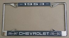 53 1953 Chevy car truck Chrome license plate frame