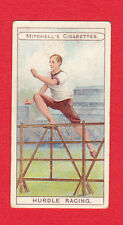 STEPHEN MITCHELL & SON - RARE SPORTS CARD -  HURDLE  RACING  -  1907