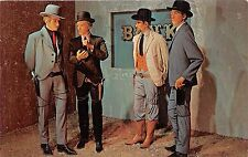 DALLAS TEXAS WAX MUSEUM~BANK ROBBERS~JAMES QUANTRILL YOUNGER JAMES POSTCARD 1960