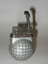 UNUSUAL AND RARE ANTIQUE LIFT ARM GOLF BALL LIGHTER  circa 1910-1920 GOLFER MESH