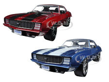 1969 CHEVROLET CAMARO RS CHIP FOOSE RED & BLUE SET OF 2 1/24 BY M2 40300-52A&B