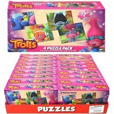LIcensed Trolls 4pk Rectangular Mini Puzzle in PDQ 5 x 4.5- 1 Pack
