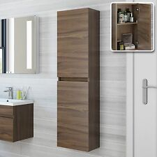Victoria Plumb Plan Walnut Bathroom Wall Hung Cabinet H150xW40xD30cm PLATU01