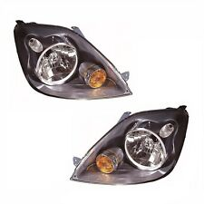 Ford Fiesta Mk6 10/2005-2008 Headlights Headlamps Replacement 1 Pair O/S & N/S