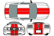 Eleanor Mustang Graphics 2005-09 Racing Rally Stripes Decals 2006 2007 2008 2009