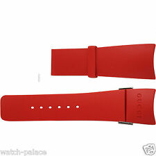 I Gucci 26mm Genuine Replacement RED Rubber Strap YA11620