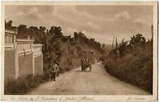 1932 San Colombano al Lambro Carro cavallo comm. Garibaldi FP B/N VG ANIM