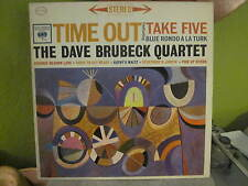 the DAVE BRUBECK QUARTET TIME OUT ORIG 60S STEREO 2 EYE COLUMBIA JAZZ LP RECORD