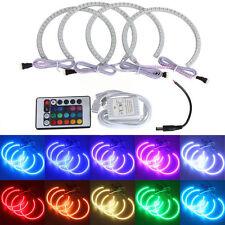 4x 131MM Multi-Color 5050 RGB LED Angel Eyes Halo Ring BMW E36 E38 E39 E46 zp