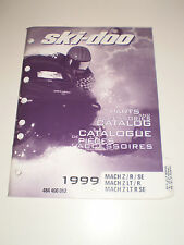 SKIDOO 1999 PARTS AND ACCESSORIES CATALOG MANUAL MACH Z / R /SE MACH Z LT /RSE