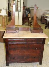 Antique Marble-top Washstand w/ Double Glove Box Lot 50B