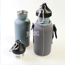 500ml Sport Hiking Camping Military Stainless Steel Water Bottle Canteen Cooler