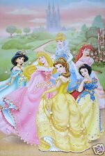 "DISNEY ""PRINCESSES IN FRONT OF CASTLE"" POSTER FROM ASIA -  Jasmine, Ariel, Belle"
