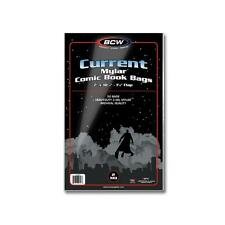 1 case of 500 BCW Current Comic Book Mylar Storage Bags Sleeves 2 mil