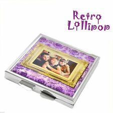 Retro Lollipop Contemporary Personalised Photo Handbag Mirror