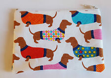 Cani bassotto in tessuto Maglioni fatto a mano Zippy Portamonete Custodia