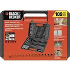 Black & Decker Combination Accessory Set 109-Piece - screwdriving drill bits
