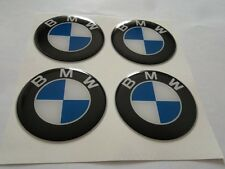 4pcs BMW 50 mm 3D Wheel center caps Emblem Sticker Decal Badge Silicone