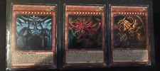 Yu-Gi-Oh God Cards Slifer Obelisk Ra! Ultra Rare ALL PLAYABLE! Pack Fresh!!