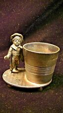 KATE GREENAWAY Silver Plated figural toothpick holder, by TUFTS